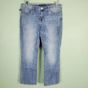 Rock & Republic Wing Embroidered Cropped Jeans 12
